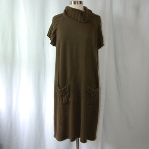 {Calvin Klein} Olive Green Knit Sweater Dress 3X